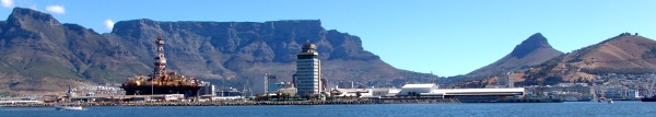 view of Table Mountain from the harbour