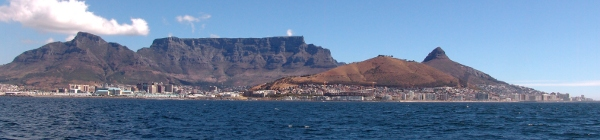 classic view of Table Mountain, Cape Town